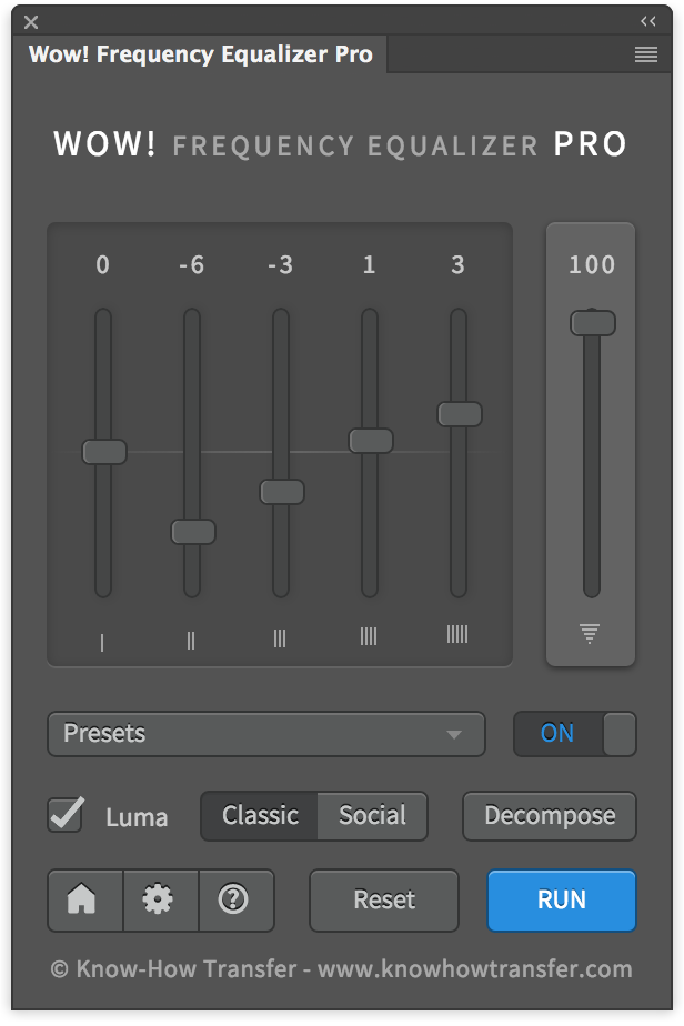 Wow! Frequency Equalizer Pro Edition Interface