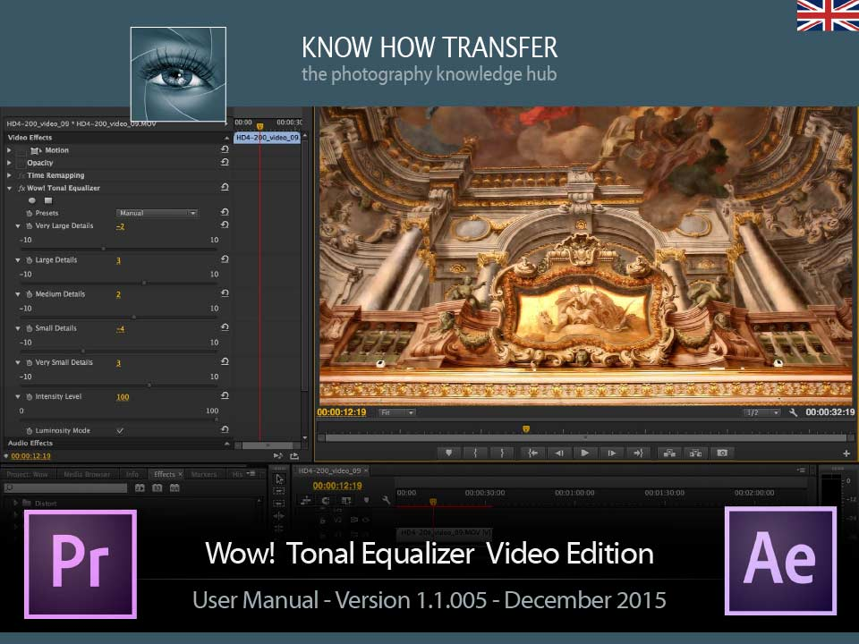 Wow! Frequency Equalizer Video Edition. User Manual Front-page