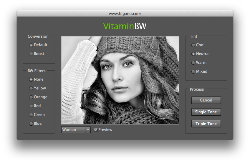 VitaminBW Clean Interface