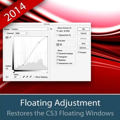 Floating Adjustment restore the old big Photoshop windows