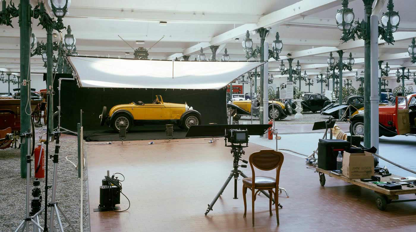 The backstage for the book Divina Bugatti of Franco Maria Ricci at Museé National del l'Automobile in Mulhouse, Alsace.