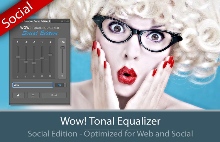 The panel of Wow! Frequency Equalizer Social Edition plugin for Photoshop