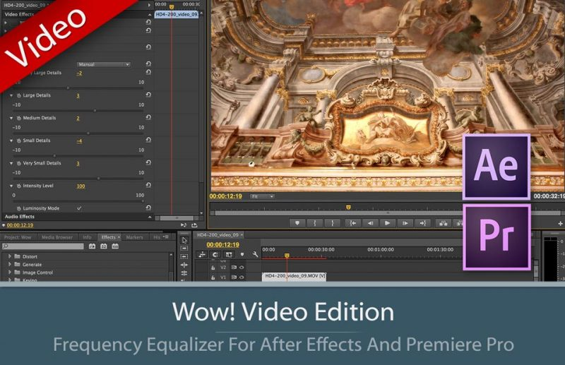Wow! Frequency Equalizer Video Edition Interface for Premiere ad After Effects