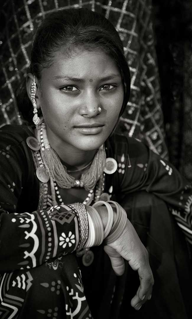Young woman with her jewels from the Rajashtan Portfolio by Shari Hartbauer