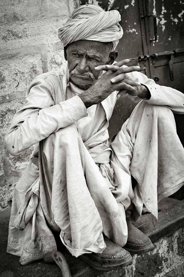 Peasant. fom the Rajashtan Portfolio by Shari Hartbauer