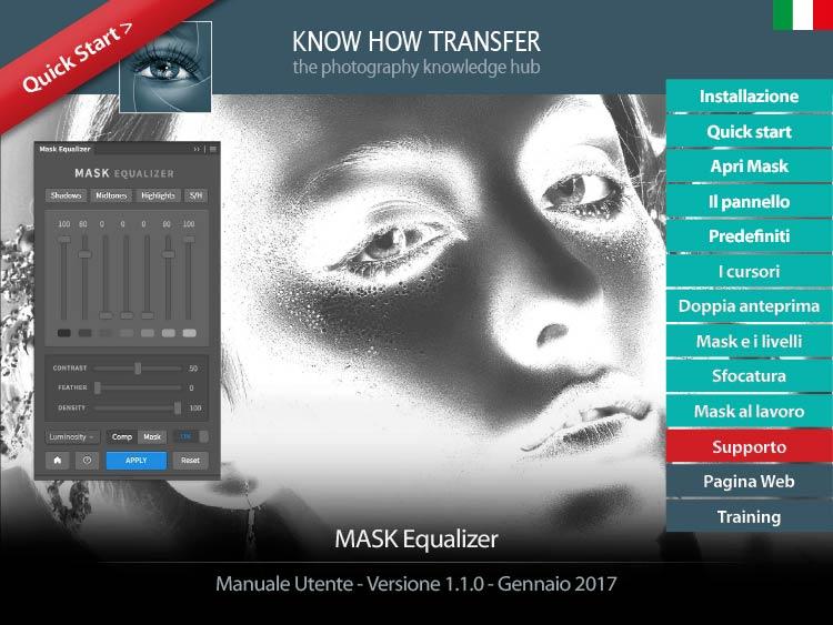 Mask Equalizer Luminosity Mask Plugin- Copertina manuale utente