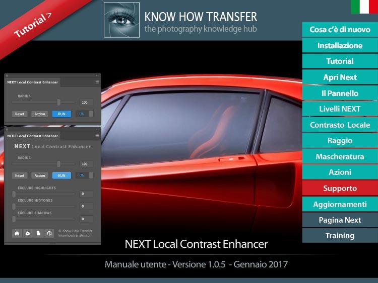 Manuale utente interattivo di NEXT Local Contrast Enhancer
