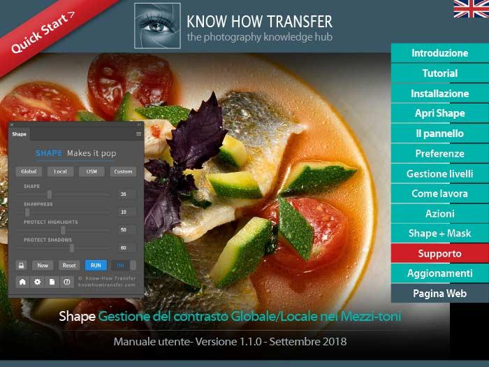 La copertina del manuale utente di Shape 1.1 plugin per Photoshop