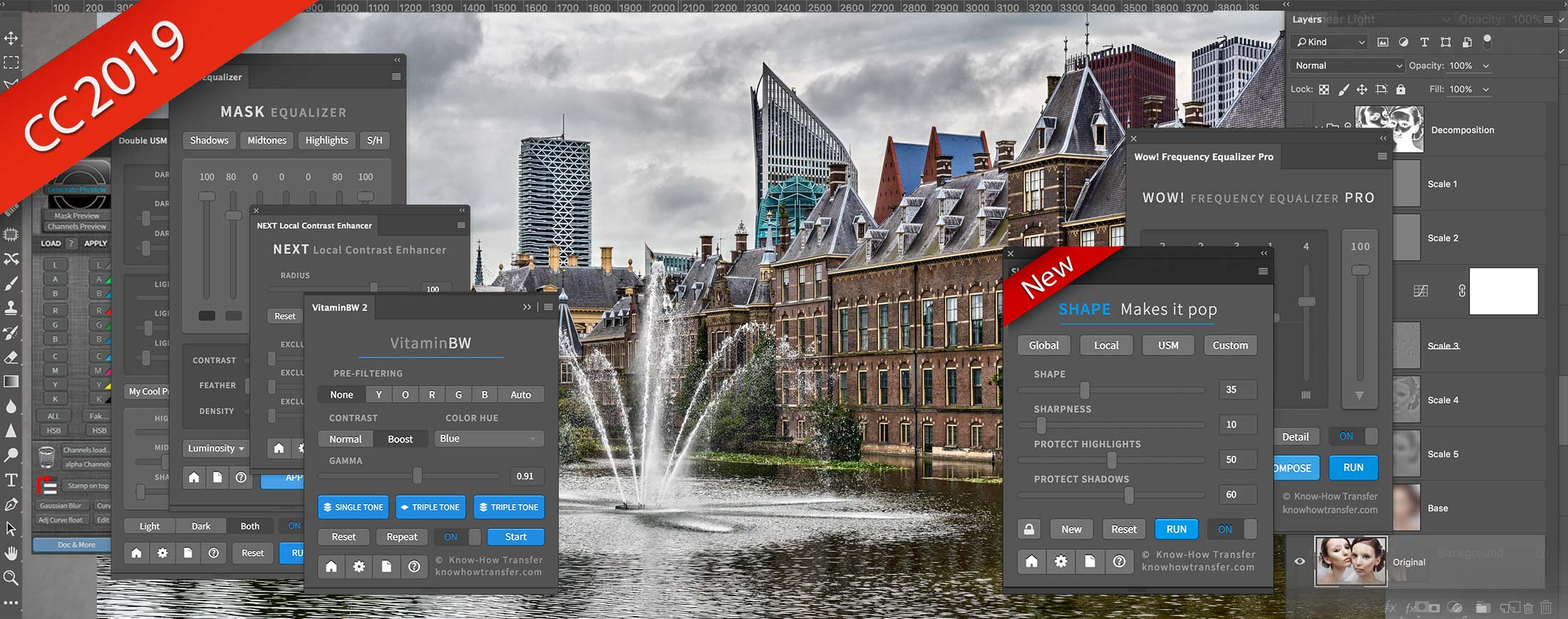 La gamma dei plugin per Photoshop di Know-How Transfer incluso il nuovo Shape