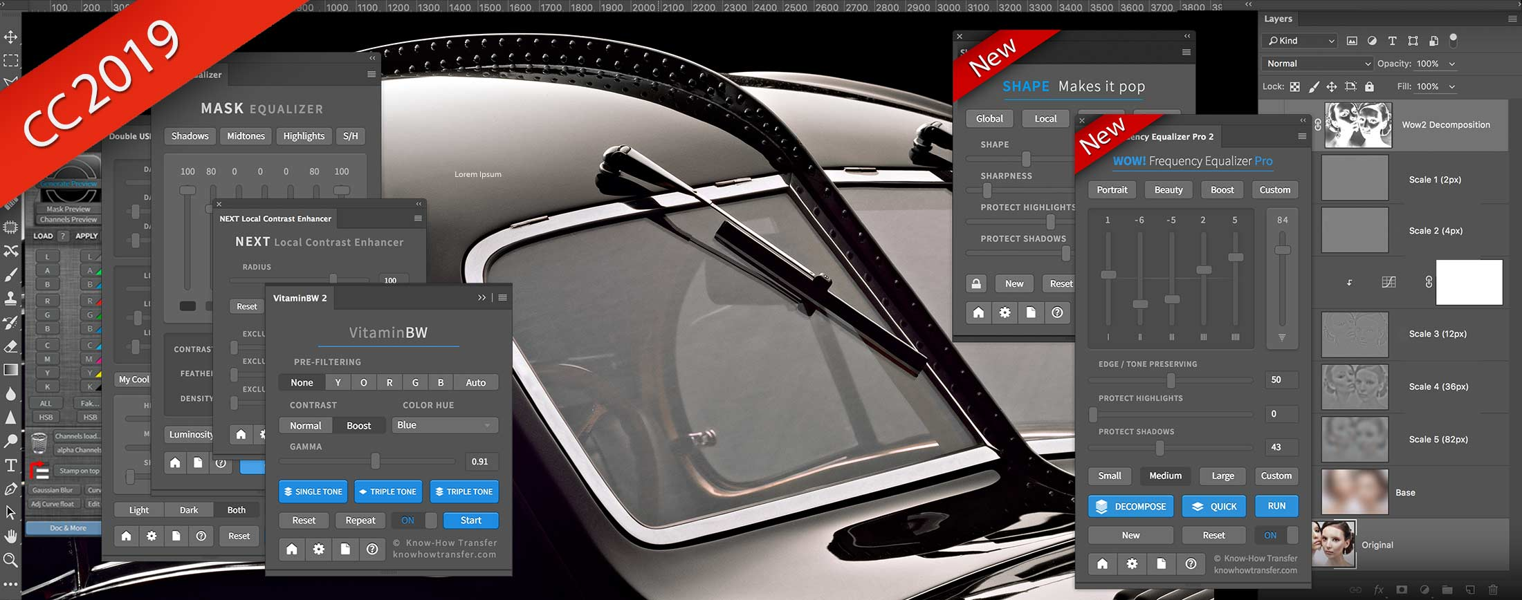 """The full range of Know-How Transfer plugins included the new """"Wow Pro 2"""" with a Bugatti Atlantic tuned with Wow! Pro 2"""
