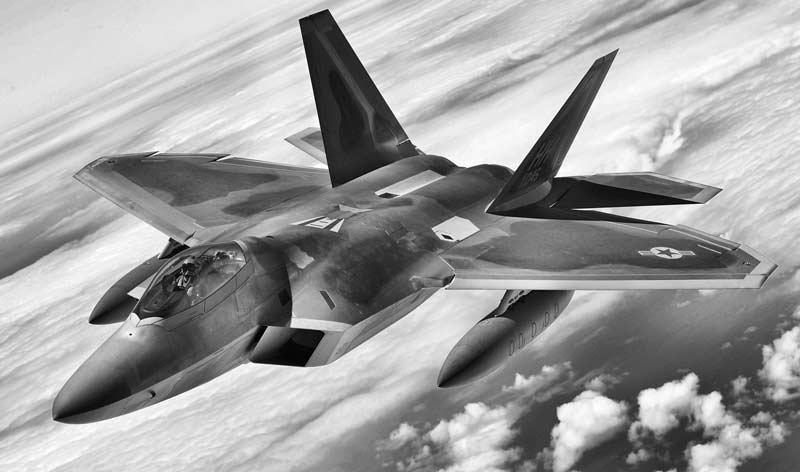 Jet Raptor F22 converted by VitaminBW using red filter