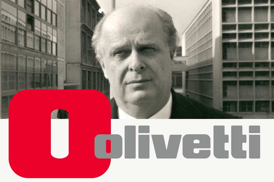 Adriano Olivetti at Ivrea - The Olivetti Logo