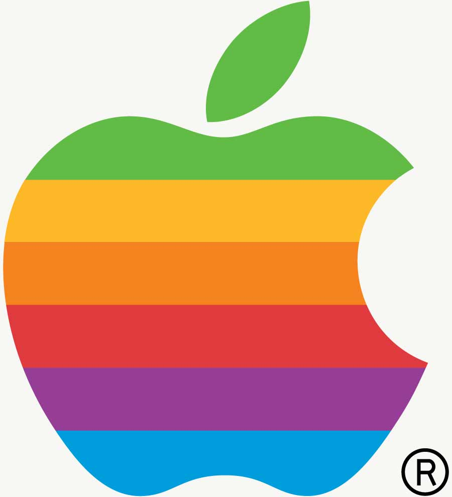 "The first Apple ""Rainbow"" Logo"